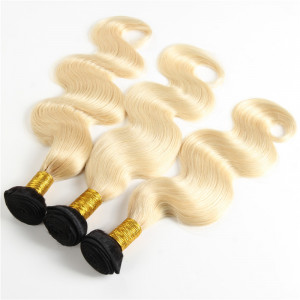 3 Bundles Body Wave 1b/613 Human Hair Weaves