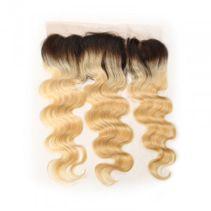 1B/613 Ombre Natural Black To Blonde Hair Lace Frontal