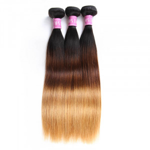 ombre straight human hair 3 bundles