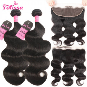 body wave 2 bundles with frontal
