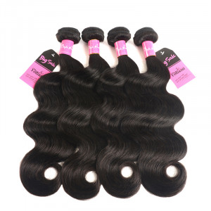 Yolissa Brazilian Body Wave Virgin Hair Extension 4 Bundles