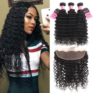 deep wave 3 bundles with frontal
