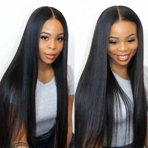 straight 5x5 closure wig