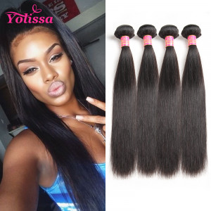 Yolissa 4 Bundles Brazilian Straight Hair Weaves