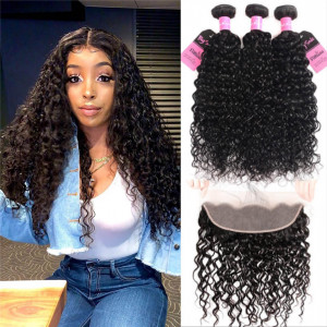 water wave bundles with frontal