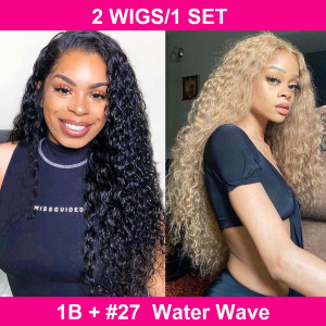 water wave 4*4 lace closure wigs