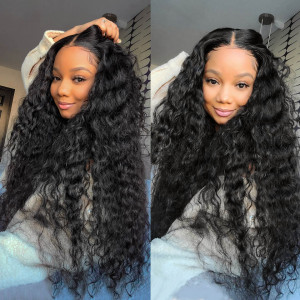 water wave transparent lace wigs