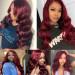 99j burgundy lace part wig