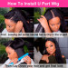 how to install u part wig