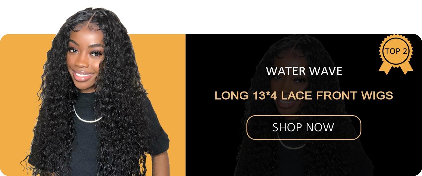 water wave long 13*4 lace front wigs