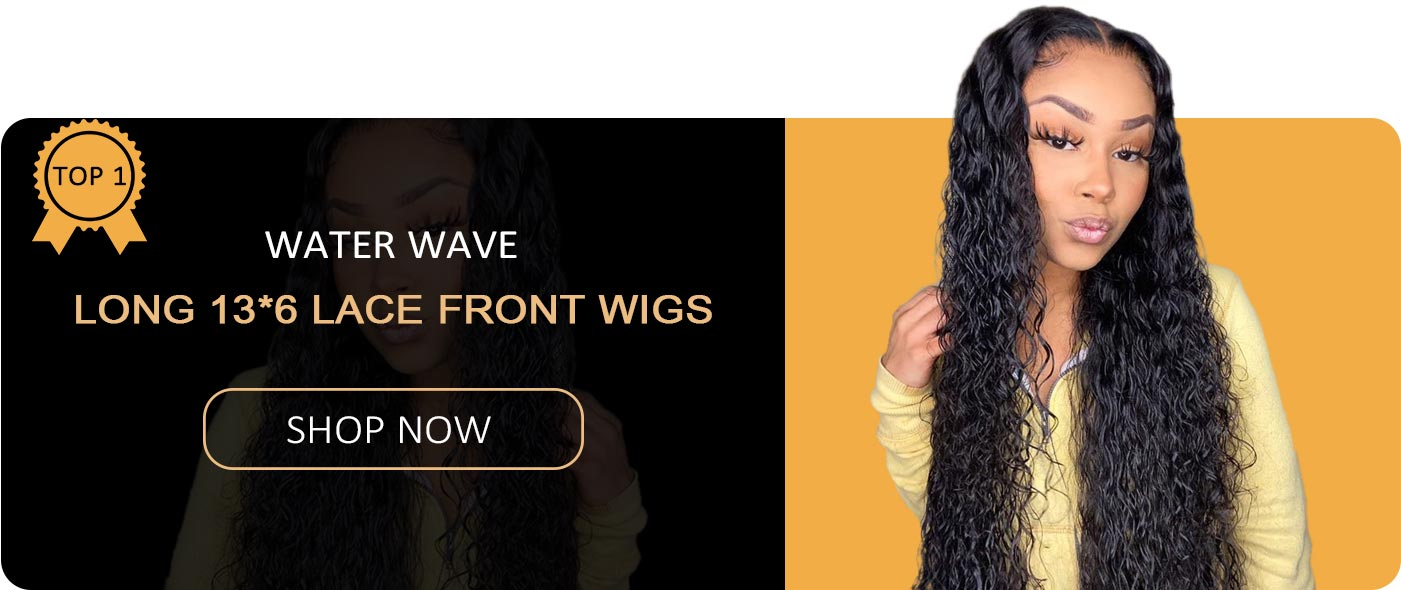 water wave long 13*6 lace front wigs