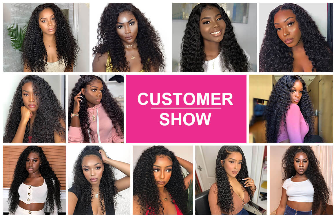 Deep Wave Human virgin Hair bundles