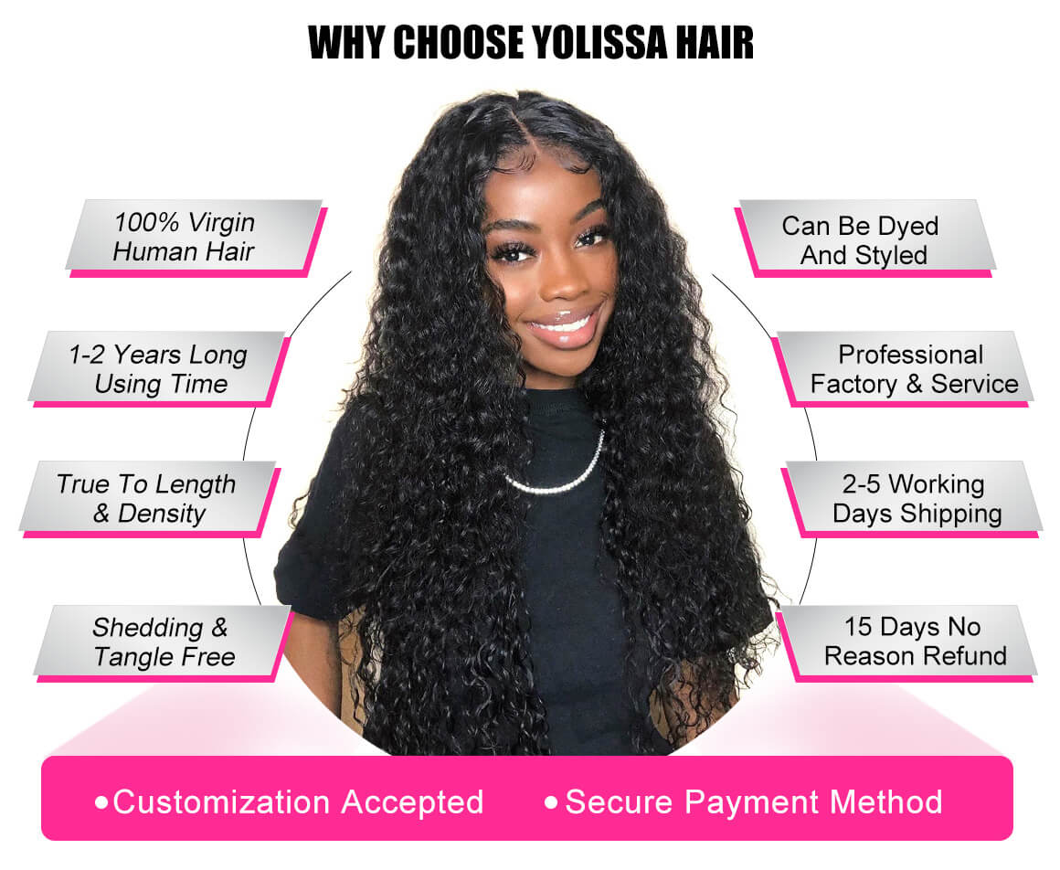 Deep Wave Human Virgin Hair Extensions