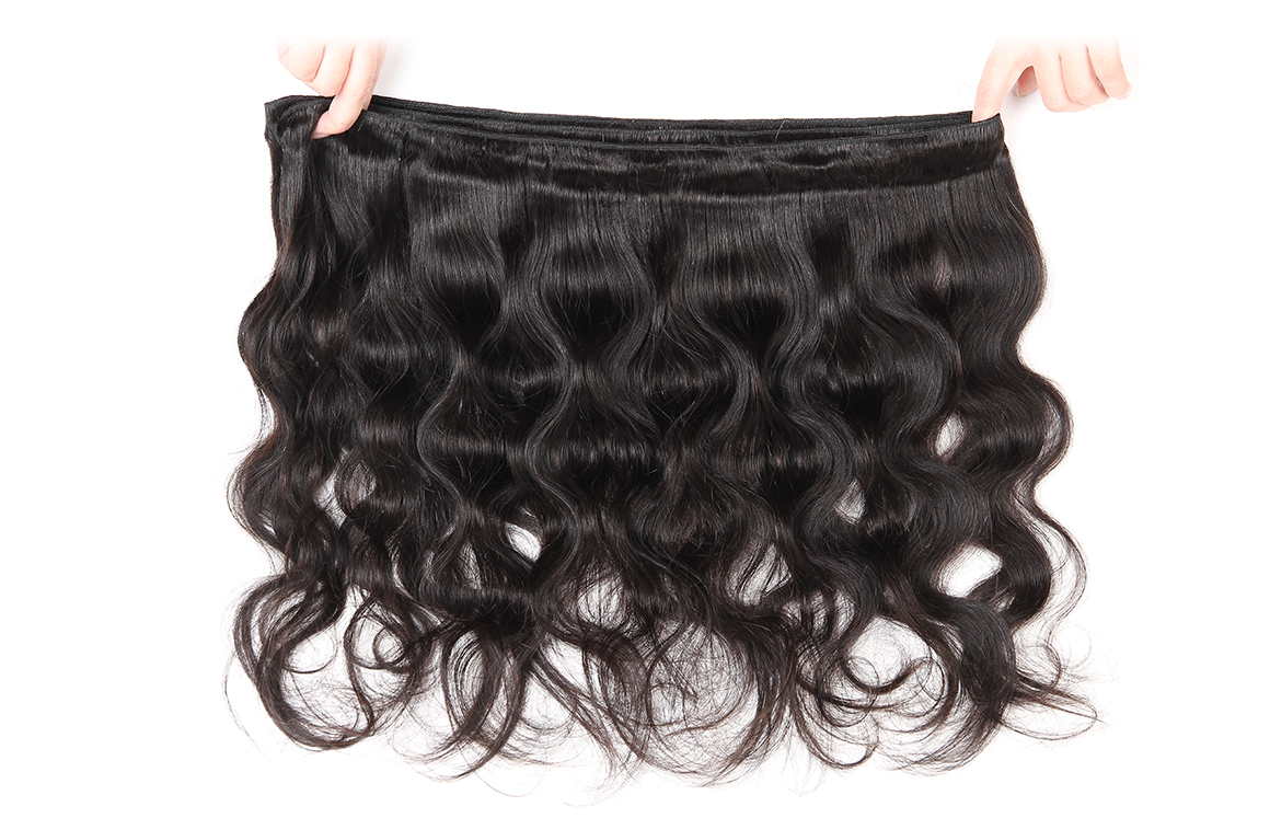 brazilian hair body wave 13*4 lace frontal with human hair bundles