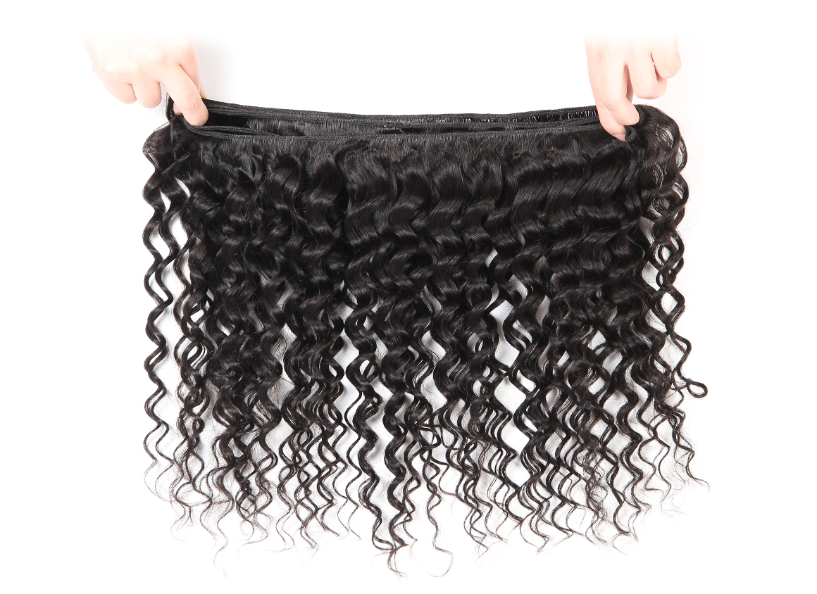 3 bundles deep wave wavy brazilian hair weave remy hair