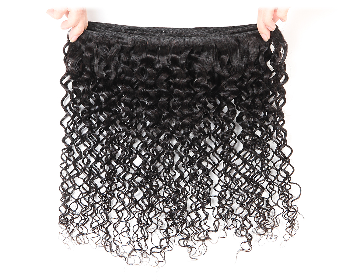 malaysian curly hair bundles with swiss lace frontal