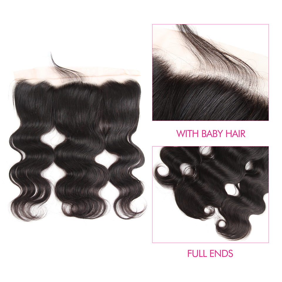 brazilian virgin hair body wave 4 bundles with lace frontal 13 by 6