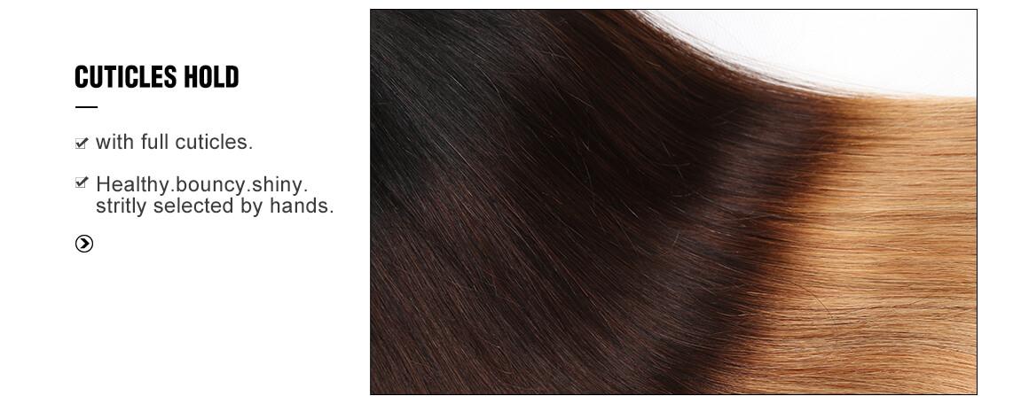 1B/4/27 Straight Hair 3 Bundles