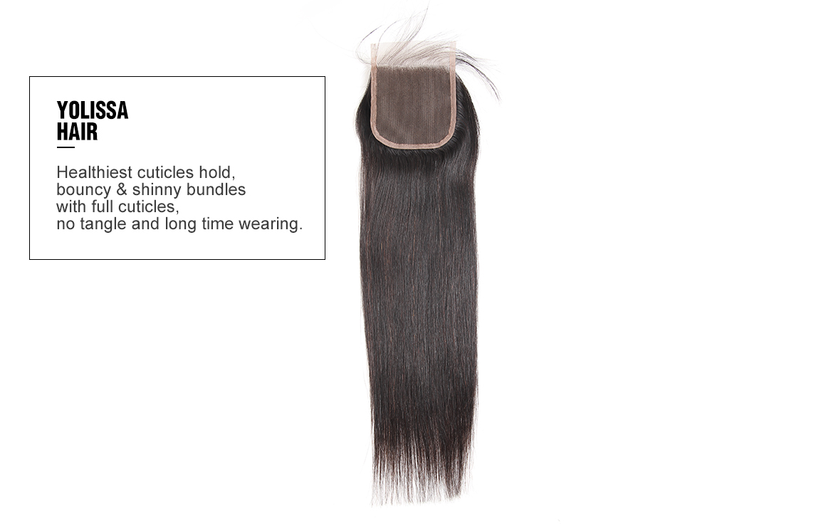 virgin hair straight 3 bundles and a closure