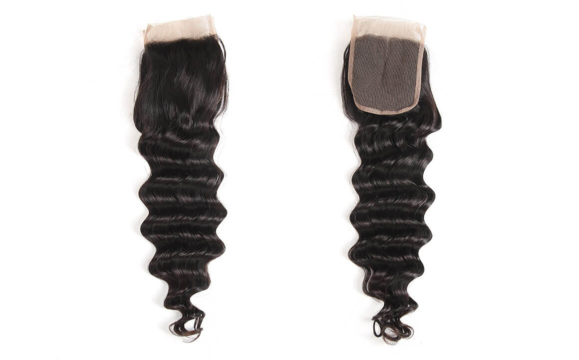 loose deep wave brazilian hair with lace closure