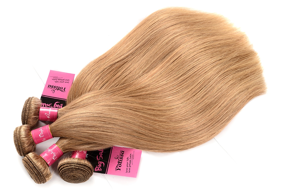 4 Bundles With Fronal 13×4 Deal Straight Honey Blonde Human Hair