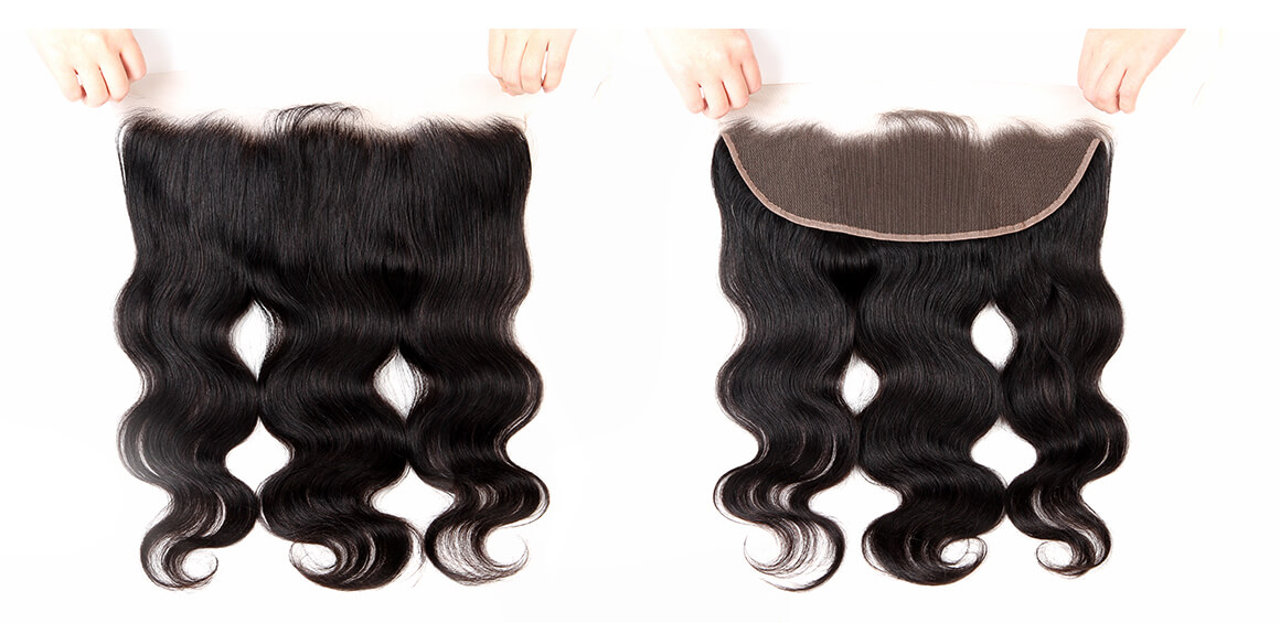 malaysian body wave hair 3 bundles with swiss lace frontal