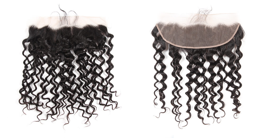 malaysian virgin hair water wave bundles with lace frontal