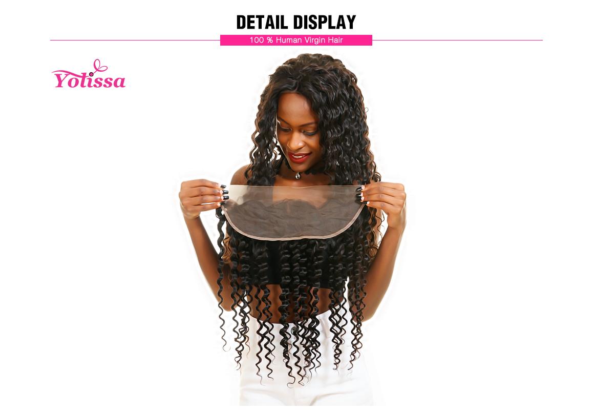 Yolissa 13x4 Lace Frontal Deep Wave Virgin Hair