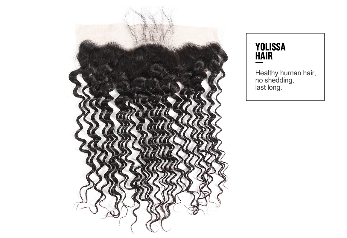 Brazilian Deep Wave Virgin Hair 13*4 Lace Frontal