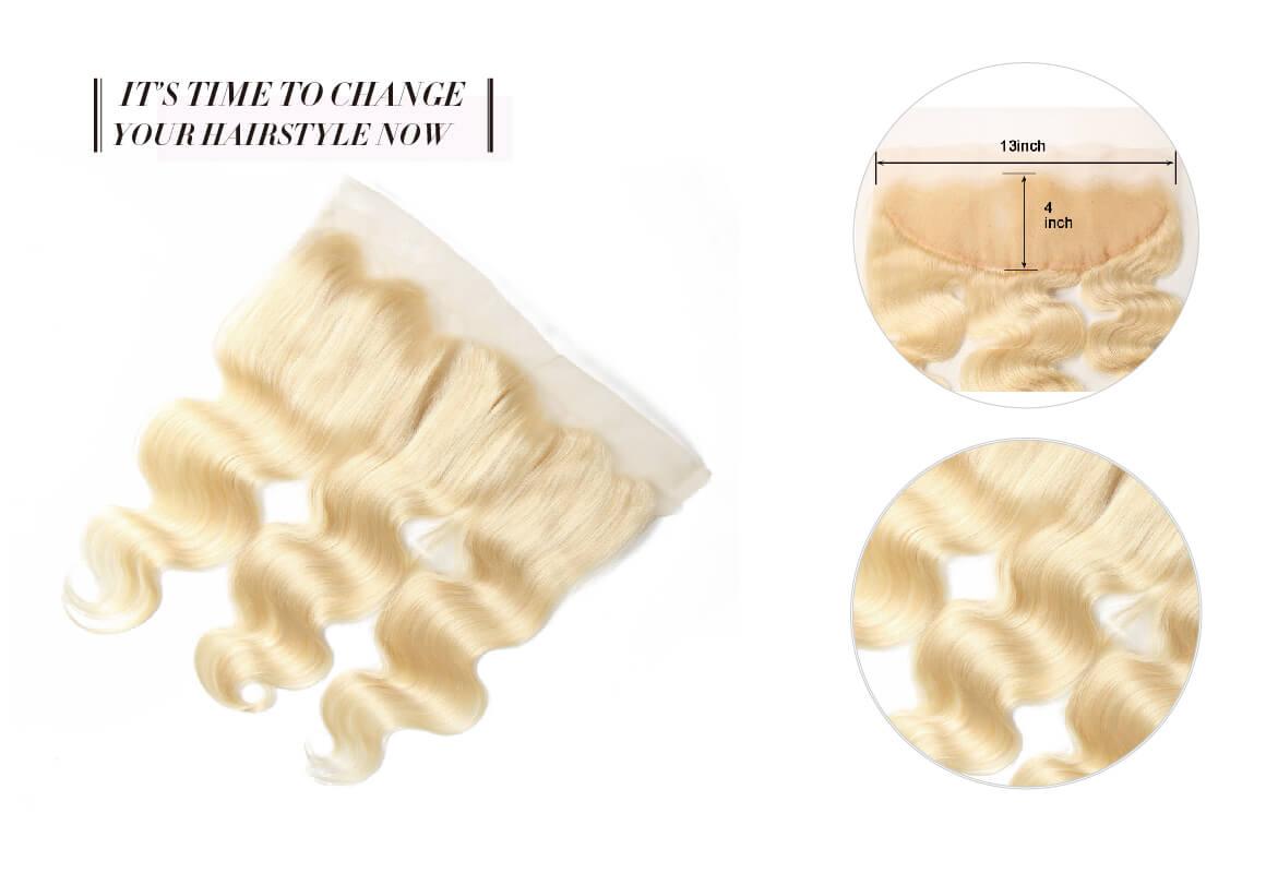 #613 Body Wave Honey Blonde Human Hair Weaves