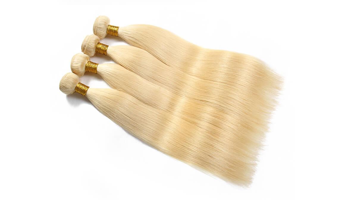613  Hair 4 Bundles Human Straight Hair Weaves