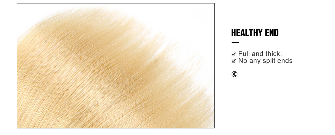 #613 straight human hair blonde weaves