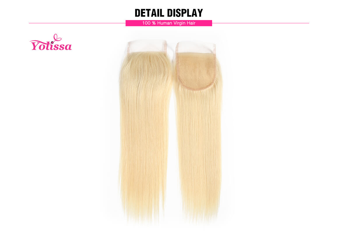 613 Blonde Hair Straight Human Hair