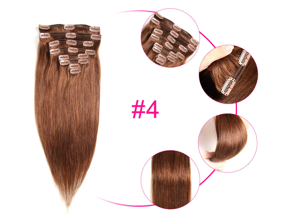 10-22inches Clip In Straight Human Hair