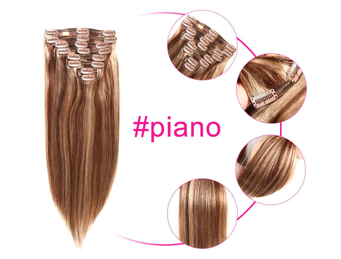 Clip In Straight Human Hair