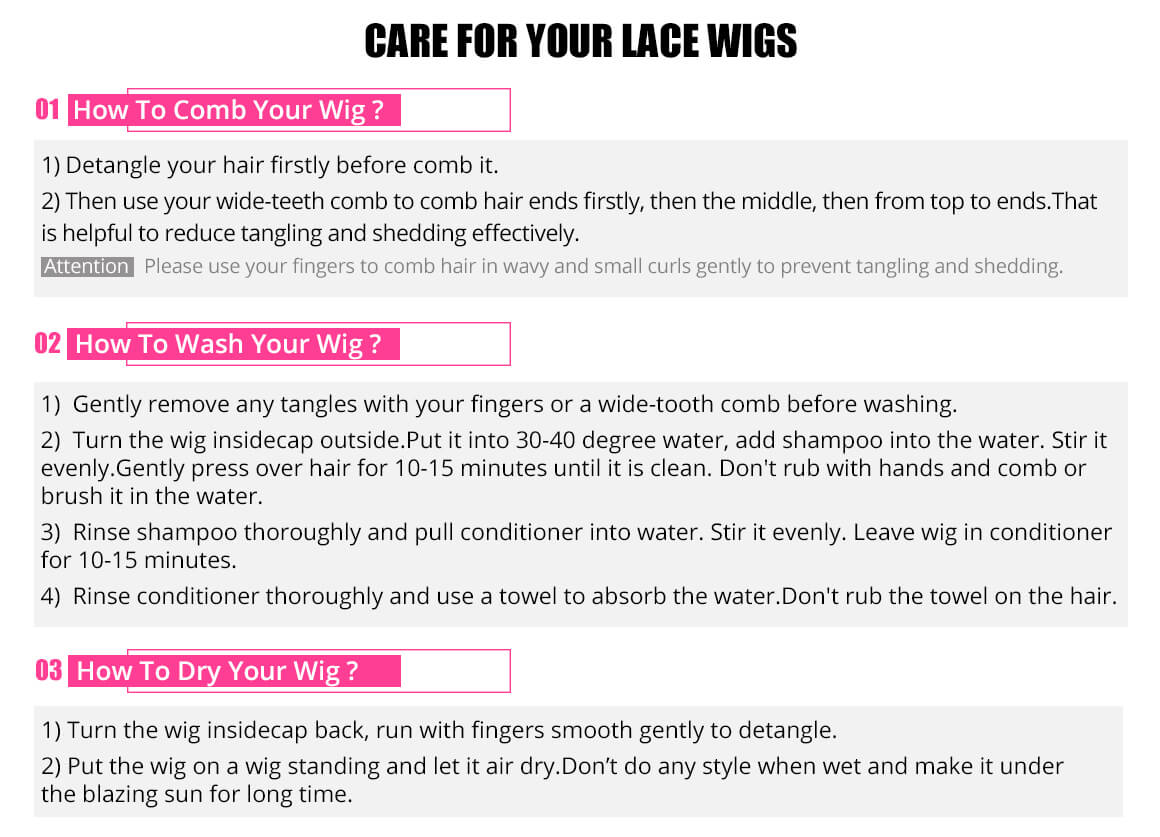 lace front wig condition method