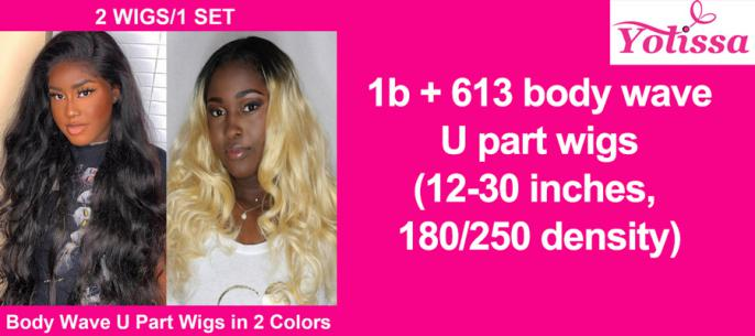 (1b body wave + 613 body wave) U part wigs