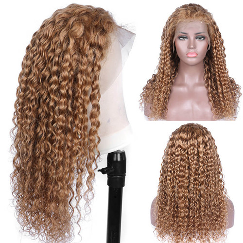Colored Curly Lace Front Wig