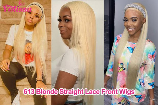 613 Blonde Straight Lace Front Wigs