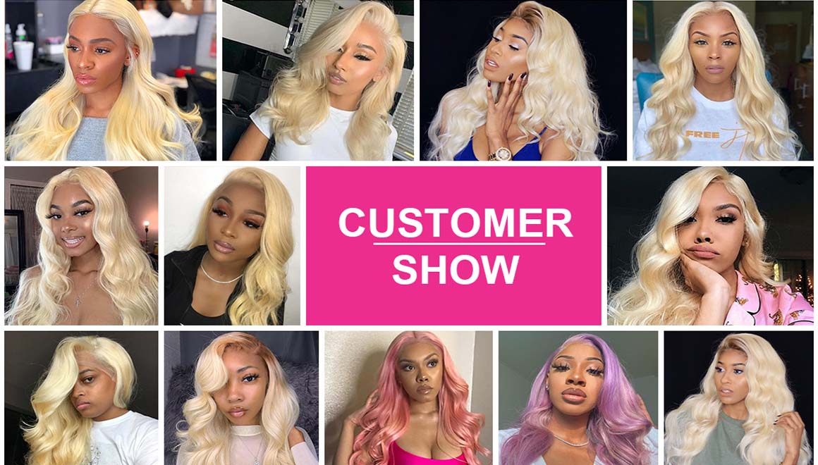 613 blonde body wave lace wigs