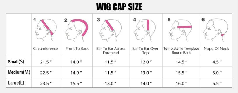 Available capsize of hair wigs in Yolissa Hair
