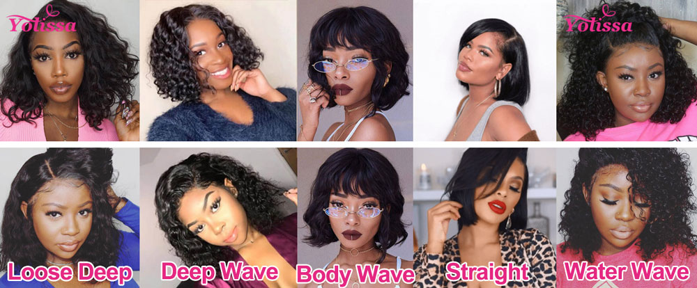 The textures of Bob Cut Wigs