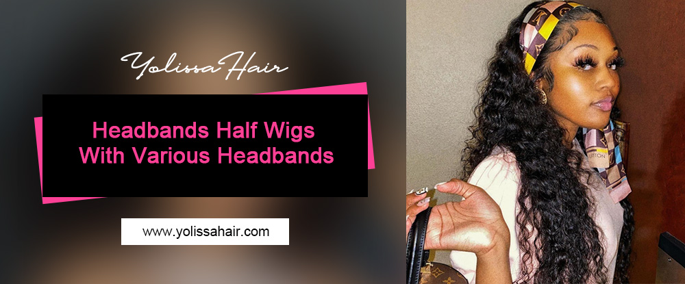 Headbands Half Wigs With Various Headbands