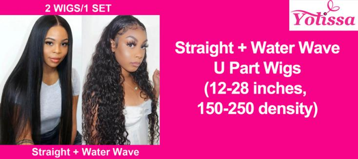 Straight + Water Wave U Part Wigs