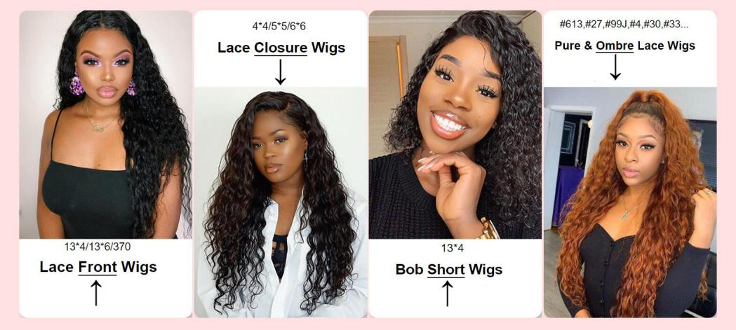 Various Types of Water Wave Wigs