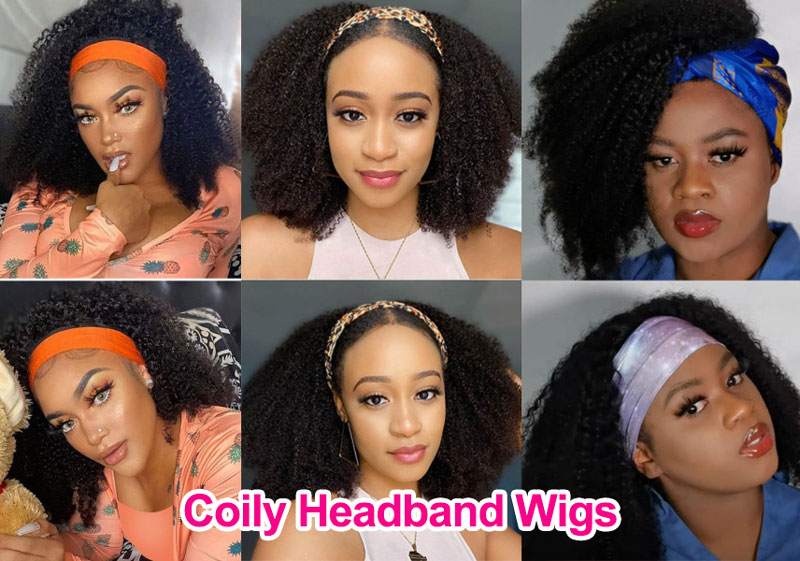 coily headband wigs