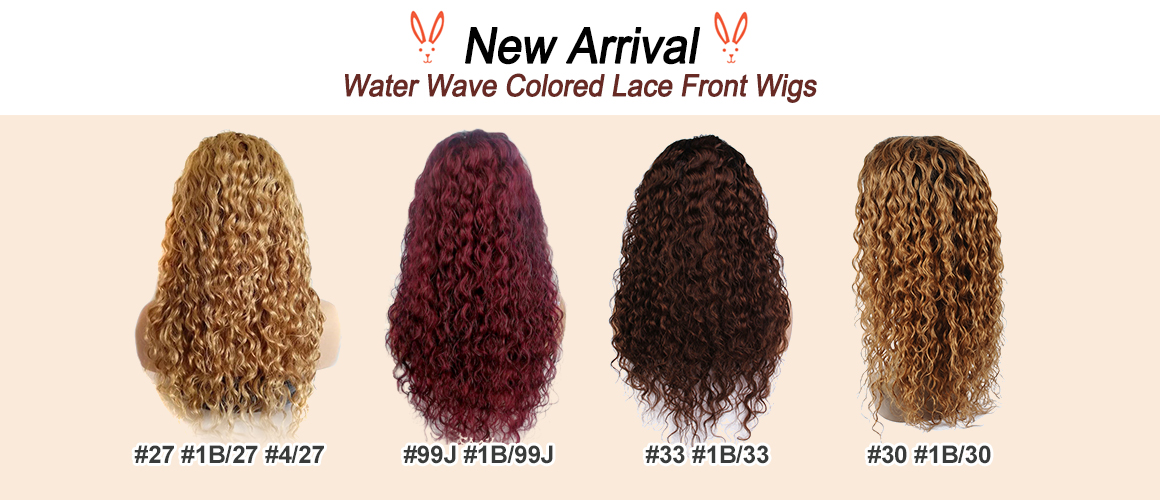 Colored Water wave Lace Front Wig