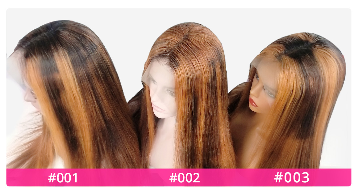 highligh #27 Lace Front Wigs Top
