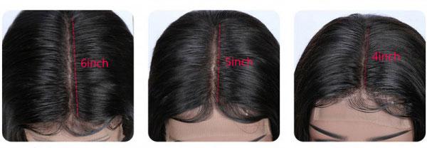 yolissa hair part wig size