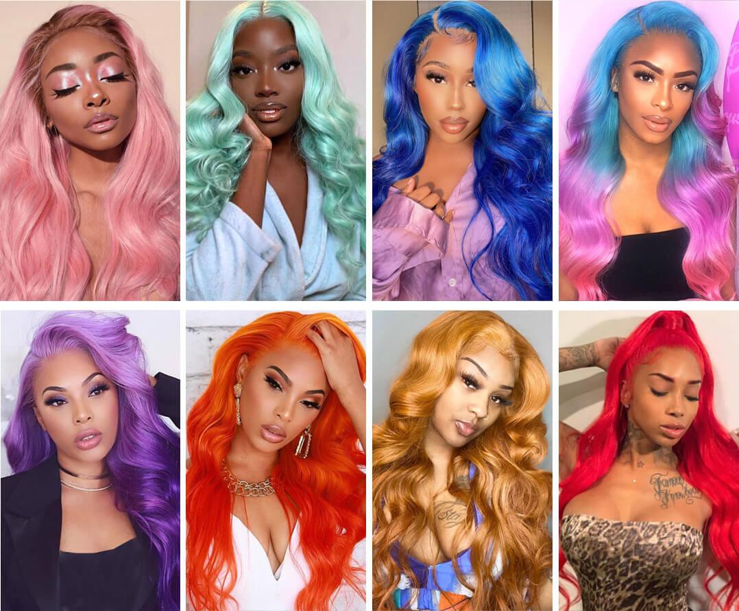 613 colored wig